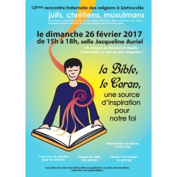 exemple d'une série d'affiches crées pour les rencontres inter-religieuses à Sartrouville