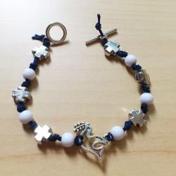 DIY - Bracelet Paix bleu et...