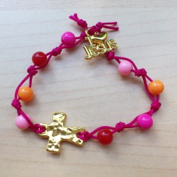 DIY - Bracelet rose et or...